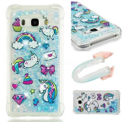 Fashion Unicorn Dynamic Liquid Glitter Sand Quicksand Star TPU Case for Samsung Galaxy J5 2016 J510