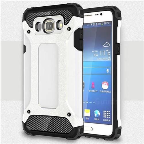 size 40 c7e74 edb0d King Kong Armor Premium Shockproof Dual Layer Rugged Hard Cover for Samsung  Galaxy J5 2016 J510 - White
