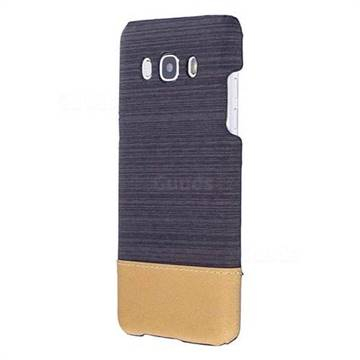 Canvas Cloth Coated Plastic Back Cover for Samsung Galaxy J5 2016 J510 - Black