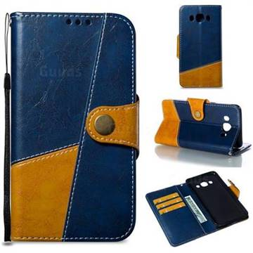 Retro Magnetic Stitching Wallet Flip Cover for Samsung Galaxy J5 2016 J510 - Blue