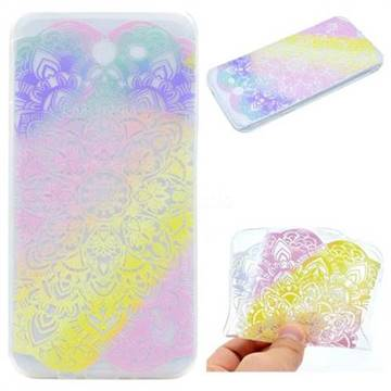 Mandala Rainbow Flower Super Clear Soft TPU Back Cover for Samsung Galaxy J5 2017 US Edition