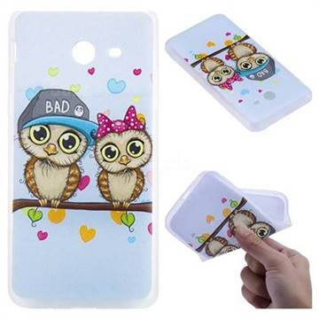 Couple Owls 3D Relief Matte Soft TPU Back Cover for Samsung Galaxy J5 2017 US Edition