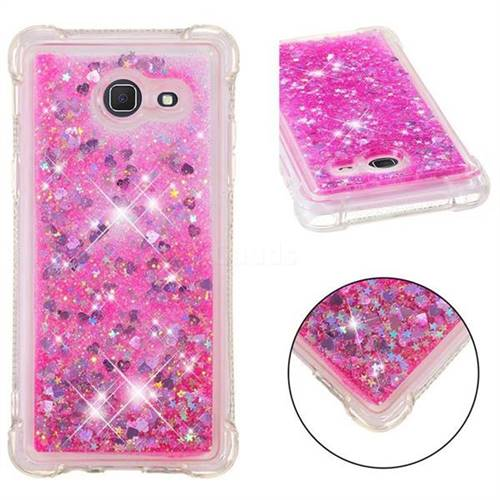 Dynamic Liquid Glitter Sand Quicksand TPU Case for Samsung Galaxy J5 2017 US Edition - Pink Love Heart