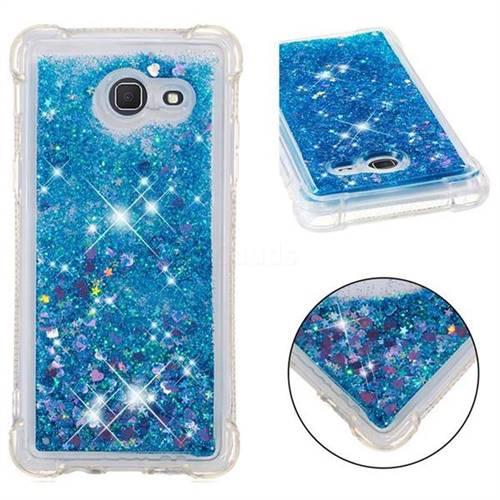 Dynamic Liquid Glitter Sand Quicksand TPU Case for Samsung Galaxy J5 2017 US Edition - Blue Love Heart