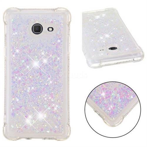 Dynamic Liquid Glitter Sand Quicksand Star TPU Case for Samsung Galaxy J5 2017 US Edition - Pink