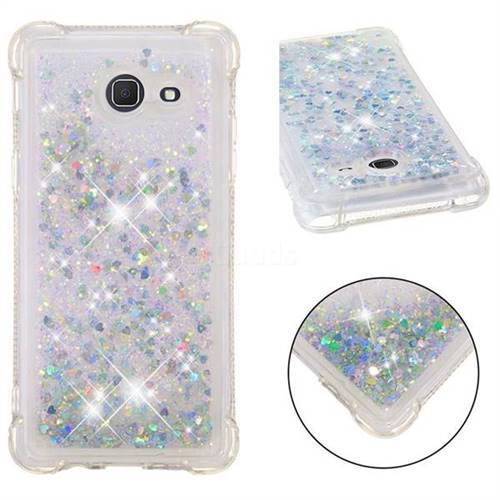 Dynamic Liquid Glitter Sand Quicksand Star TPU Case for Samsung Galaxy J5 2017 US Edition - Silver