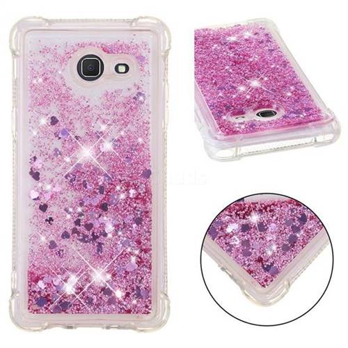 Dynamic Liquid Glitter Sand Quicksand Star TPU Case for Samsung Galaxy J5 2017 US Edition - Diamond Rose
