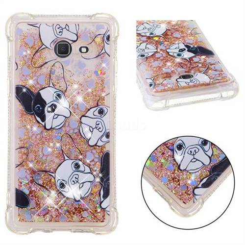 Bulldog Dynamic Liquid Glitter Sand Quicksand Star TPU Case for Samsung Galaxy J5 2017 US Edition