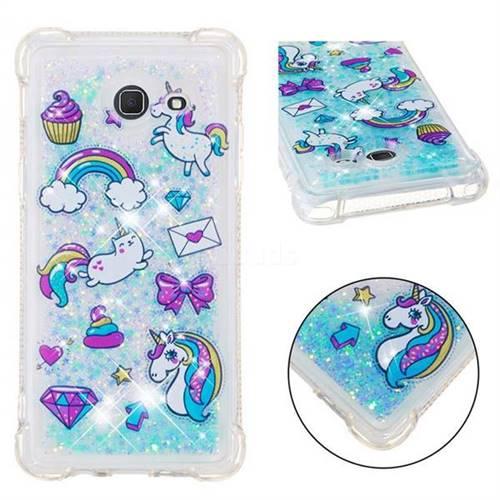 Fashion Unicorn Dynamic Liquid Glitter Sand Quicksand Star TPU Case for Samsung Galaxy J5 2017 US Edition