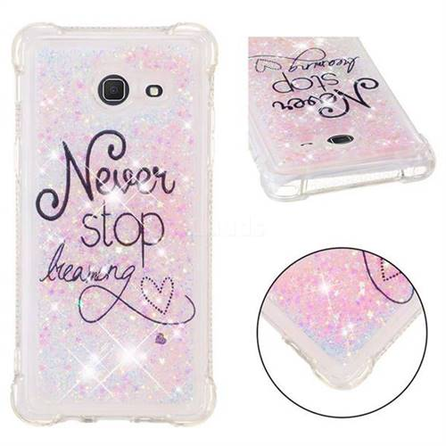 Never Stop Dreaming Dynamic Liquid Glitter Sand Quicksand Star TPU Case for Samsung Galaxy J5 2017 US Edition