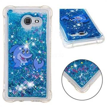 Happy Dolphin Dynamic Liquid Glitter Sand Quicksand Star TPU Case for Samsung Galaxy J5 2017 US Edition