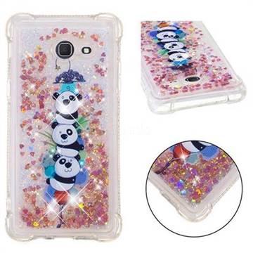 Three Pandas Dynamic Liquid Glitter Sand Quicksand Star TPU Case for Samsung Galaxy J5 2017 US Edition