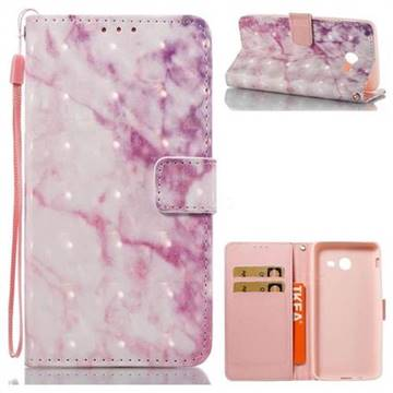 Pink Marble 3D Painted Leather Wallet Case for Samsung Galaxy J5 2017 US Edition