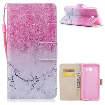 Marble Powder PU Leather Wallet Case for Samsung Galaxy J5 2017 US Edition