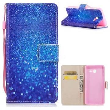 Blue Powder PU Leather Wallet Case for Samsung Galaxy J5 2017 US Edition