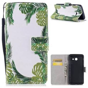 Green Leaves PU Leather Wallet Case for Samsung Galaxy J5 2017 US Edition