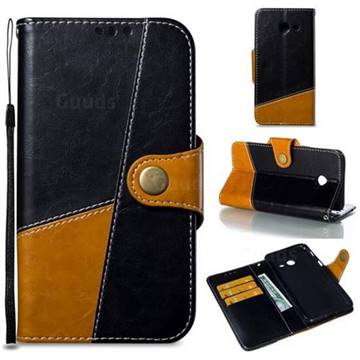 Retro Magnetic Stitching Wallet Flip Cover for Samsung Galaxy J5 2017 US Edition - Black