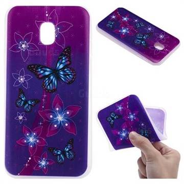 Butterfly Flowers 3D Relief Matte Soft TPU Back Cover for Samsung Galaxy J5 2017 J530 Eurasian
