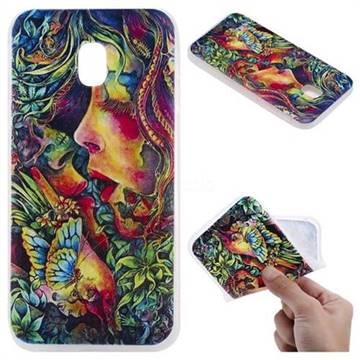 Butterfly Kiss 3D Relief Matte Soft TPU Back Cover for Samsung Galaxy J5 2017 J530 Eurasian