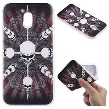 Compass Skulls 3D Relief Matte Soft TPU Back Cover for Samsung Galaxy J5 2017 J530 Eurasian