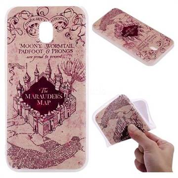 Castle The Marauders Map 3D Relief Matte Soft TPU Back Cover for Samsung Galaxy J5 2017 J530 Eurasian