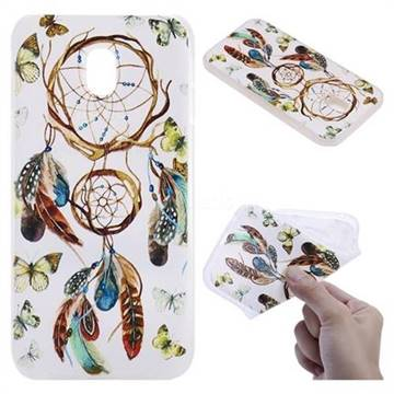 Color Wind Chimes 3D Relief Matte Soft TPU Back Cover for Samsung Galaxy J5 2017 J530 Eurasian