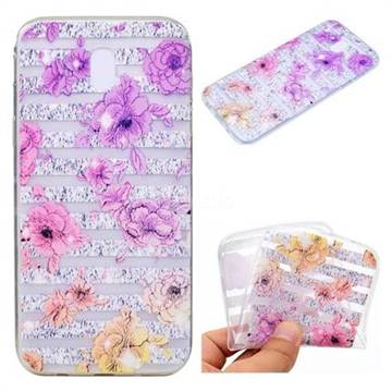 Striped Roses Super Clear Soft TPU Back Cover for Samsung Galaxy J5 2017 J530 Eurasian