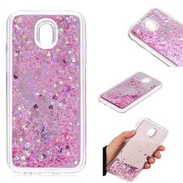 Glitter Sand Mirror Quicksand Dynamic Liquid Star TPU Case for Samsung Galaxy J5 2017 J530 Eurasian - Cherry Pink