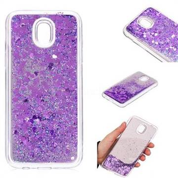 Glitter Sand Mirror Quicksand Dynamic Liquid Star TPU Case for Samsung Galaxy J5 2017 J530 Eurasian - Purple