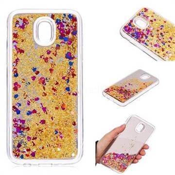 Glitter Sand Mirror Quicksand Dynamic Liquid Star TPU Case for Samsung Galaxy J5 2017 J530 Eurasian - Yellow