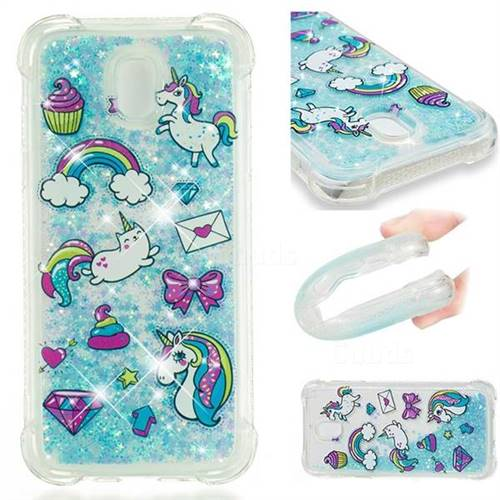Fashion Unicorn Dynamic Liquid Glitter Sand Quicksand Star TPU Case for Samsung Galaxy J5 2017 J530 Eurasian