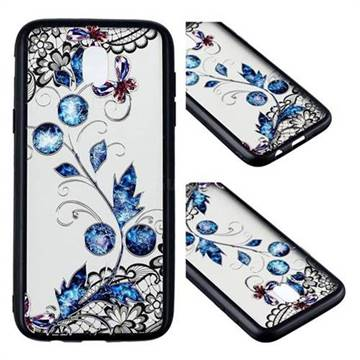 Butterfly Lace Diamond Flower Soft TPU Back Cover for Samsung Galaxy J5 2017 J530 Eurasian
