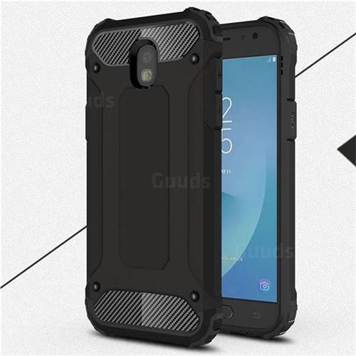 King Kong Armor Premium Shockproof Dual Layer Rugged Hard Cover for Samsung Galaxy J5 2017 J530 Eurasian - Black Gold