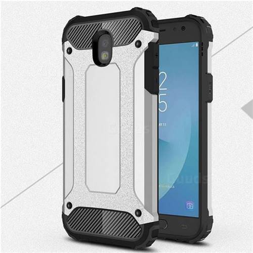King Kong Armor Premium Shockproof Dual Layer Rugged Hard Cover for Samsung Galaxy J5 2017 J530 Eurasian - Technology Silver