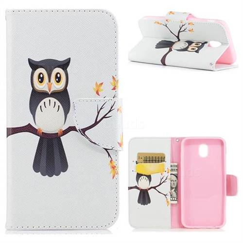 Owl on Tree Leather Wallet Case for Samsung Galaxy J5 2017 J530