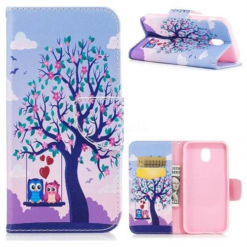 Tree and Owls Leather Wallet Case for Samsung Galaxy J5 2017 J530