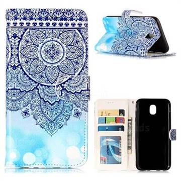 Totem Flower 3D Relief Oil PU Leather Wallet Case for Samsung Galaxy J5 2017 J530 Eurasian