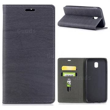 Tree Bark Pattern Automatic suction Leather Wallet Case for Samsung Galaxy J5 2017 J530 Eurasian - Gray