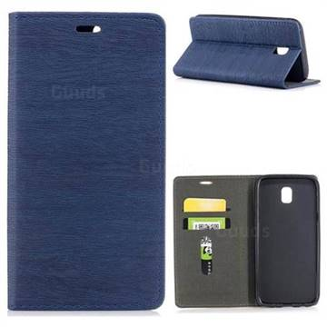 Tree Bark Pattern Automatic suction Leather Wallet Case for Samsung Galaxy J5 2017 J530 Eurasian - Blue