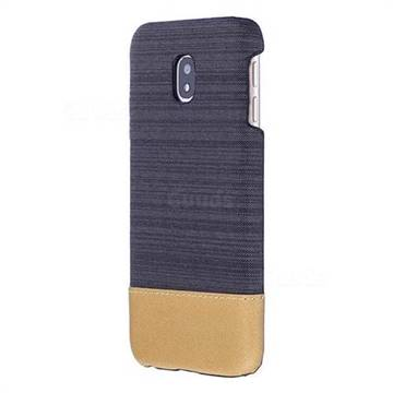 Canvas Cloth Coated Plastic Back Cover for Samsung Galaxy J5 2017 J530 Eurasian - Black