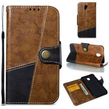 Retro Magnetic Stitching Wallet Flip Cover for Samsung Galaxy J5 2017 J530 Eurasian - Brown
