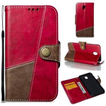 Retro Magnetic Stitching Wallet Flip Cover for Samsung Galaxy J5 2017 J530 Eurasian - Rose Red