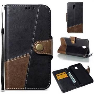 Retro Magnetic Stitching Wallet Flip Cover for Samsung Galaxy J5 2017 J530 Eurasian - Dark Gray