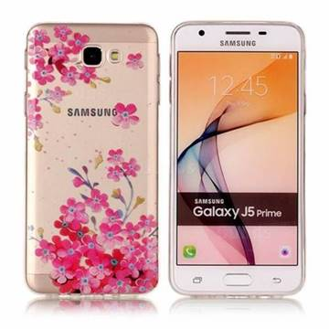 Plum Blossom Bloom Super Clear Soft TPU Back Cover for Samsung Galaxy J5 Prime