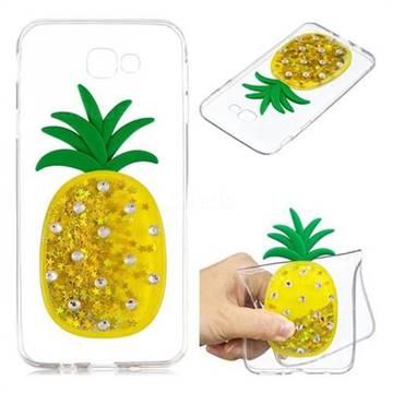 Gold Pineapple Liquid Quicksand Soft 3D Cartoon Case for Samsung Galaxy J5 Prime