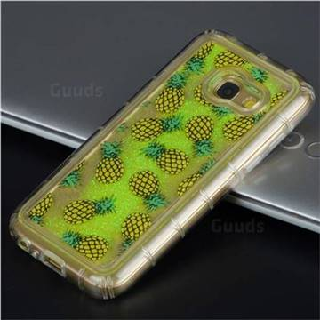 Pineapple Glassy Glitter Quicksand Dynamic Liquid Soft Phone Case for Samsung Galaxy J5 Prime