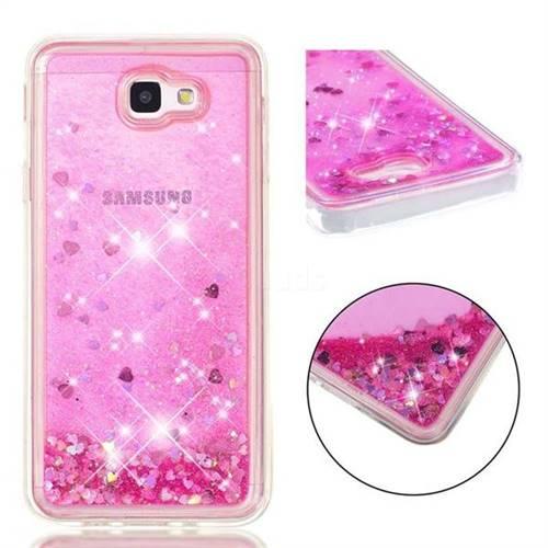 Dynamic Liquid Glitter Quicksand Sequins TPU Phone Case for Samsung Galaxy J5 Prime - Rose