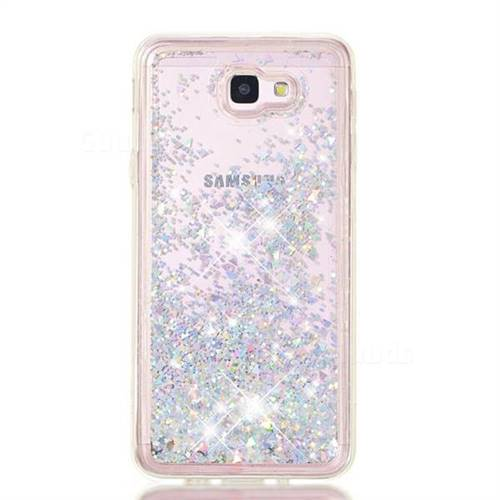 new style beb58 aad6e Dynamic Liquid Glitter Quicksand Sequins TPU Phone Case for Samsung Galaxy  J5 Prime - Silver