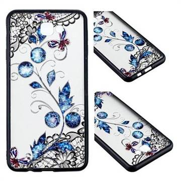 Butterfly Lace Diamond Flower Soft TPU Back Cover for Samsung Galaxy J5 Prime