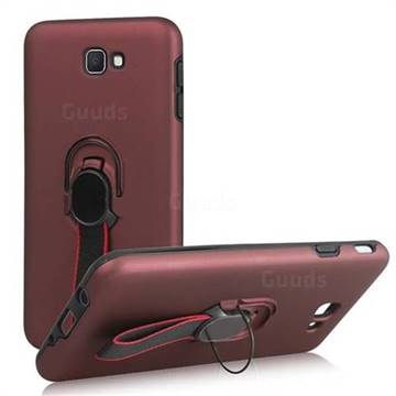 sports shoes d91ce e3c03 Raytheon Multi-function Ribbon Stand Back Cover for Samsung Galaxy J5 Prime  - Wine Red
